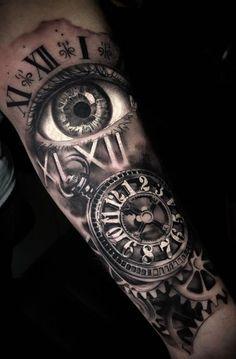 Ideas Tattoo Forearm Clock For 2019 Tattoos for men clock 8 tattoos for men clock Tattoos 3d, Forarm Tattoos, Watch Tattoos, Body Art Tattoos, Hand Tattoos, Small Tattoos, Tattoo Forearm, Clock Tattoos, Half Sleeve Tattoos For Guys