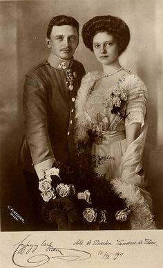 Béatification de l'Impératrice Zita - Fiançailles et mariage (1910-1916)