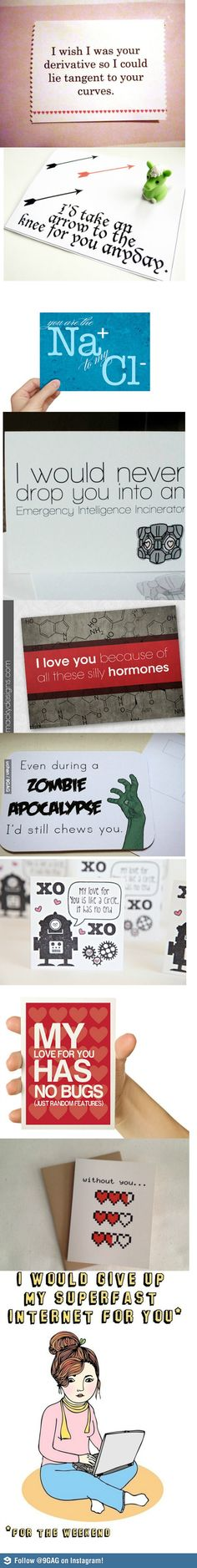 Love these! Thought I found THE perfect valentine for Dave, but now I must find the zombie or give up the internet one for next year!
