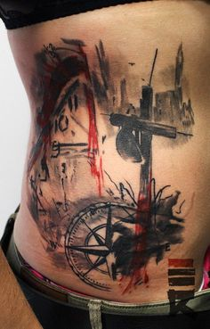 Trash polka style Veni Vidi Vici by enhancertattoo on DeviantArt