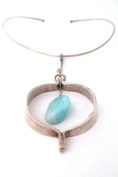 Anna Greta Eker large amazonite pendant & neck ring