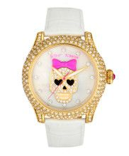 White leather strap watch with studded skull...badass