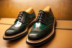 Unique Dark Green Painting Oxford Shoes Colour Free Download Photo Of Painting Oxfords Shoes