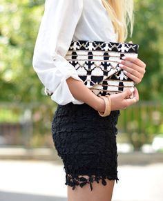 Aztec Print Clutch | The Vogue Word  #