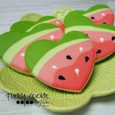 I heart watermelon! ... #funkycookiestudio #jillfcs #doorcounty #sisterbay #edibleart #cookieart #countrywalkshops