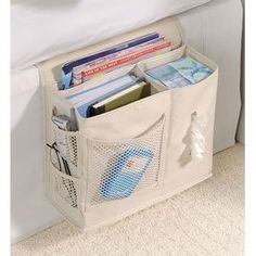 Mattress caddy. My night stand would appreciate not having all my crap piled on it. ---i need one of these!!!!