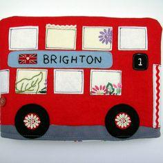 Double decker bus tea cosy
