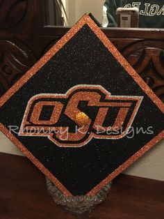 Oklahoma State University custom decorated Mortarboard by Rhonny K.  Designs. Mortarboard ff36a0b3123c