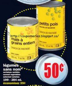 Coupons et Circulaires: .50¢ Légumes Sans Nom