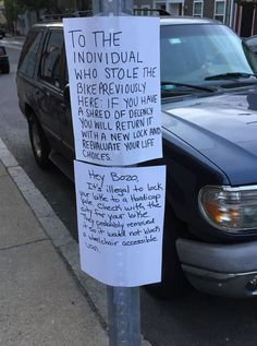 Man Leaves Angry Note After Getting Bike Stolen, Gets Amazing Response (Photos)