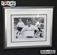 This genuine signed display which has been hand signed by Spurs legend Jimmy Greaves Jimmy made 321 appearances and scored an unbelievable 220 goals Framed in a quality black and silver wooden frame with complimenting double mounts and player detail.