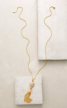 Deco Tassel Necklace #anthroregistry
