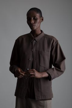 Vintage Issey Miyake Plantation Jacket, Hermes Long Sleeve Top and Yohji Yamamoto Pants. Designer Clothing Dark Minimal Street Style Fashion