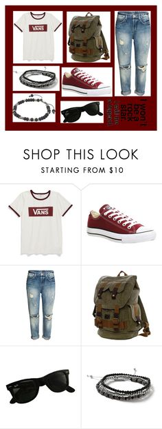 """""""09-23-16"""" by clear-skye ❤ liked on Polyvore featuring Vans, Converse, Ray-Ban, Topman and M. Cohen"""