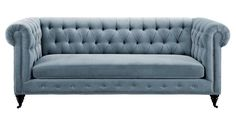 Tov Furniture The Hanny Collection Elegant Velvet Fabric Upholstered Wood Living Room Sofa Couch, Gray Grey Velvet Sofa, White Velvet, Green Velvet, Velvet Furniture, Tufted Sofa, Chesterfield Sofa, Living Room Sofa, Bedroom Sofa, Bedroom Furniture