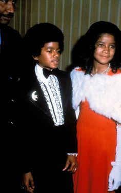 Michael and LaToya Jackson--yes,we loved The Jackson Five,too! The Jackson Five, Jackson Family, Janet Jackson, Paris Jackson, Young Celebrities, Celebs, Black Is Beautiful, Beautiful People, Michael Jackson Rare