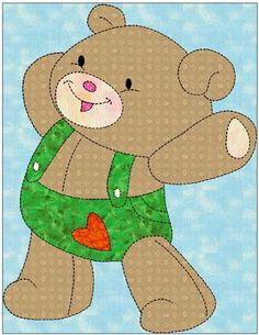 Toy Bear  Applique Template