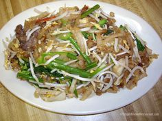 Lort Cha ingredients: 2-1 pack of rice pin noodel (banh bot loc), 3-4 beaten eggs, 2 cup of fresh bean sprouts, 1/2 -1 lbs of meat of your choice, 3-5 stalks of green onion (chopped),2 garlic cloves (minced),  1 tbsp fish sauce, 1/2 tbsp of oyster, 1/2 tsp of soy sauce, 1 tbsp of sugar, a pinch of salt, oil for cooking,  couple of tbsp of sweet thick soy sauce (depends on your taste).