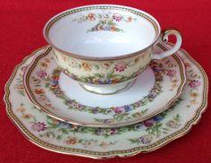 trio de té antiguo porcelana alemana de Bavaria