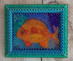 New to SissysFolkArt on Etsy: Garibaldi Fish (325.00 USD)