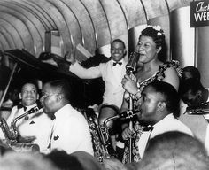Ella Fitzgerald with the Chick Webb Orchestra at the Savoy, ca. 1938 Photo by Morgan and Marvin Smith