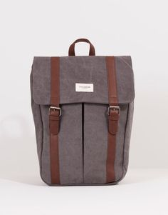 Pull&Bear - man - bags & wallets - backpack with straps closure - grey - 05821518-V2016