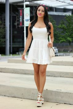 Maytedoll: Take a spin dress in white