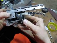 Crossbow trigger (automatic safety - inside look) Crossbow Targets, Crossbow Arrows, Homemade Crossbow, John Power, Recurve Bows, Archery Bows, Cool Tools, Hand Guns, Weapons