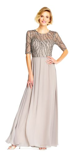 Mob Dresses, Women's Fashion Dresses, Dress Outfits, Beaded Chiffon, Chiffon Skirt, Mismatched Bridesmaid Dresses, Mature Fashion, Evening Gowns, Evening Party