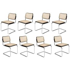 """Set of Eight """"Cesca"""" Knoll Chairs by M. Breuer, 1973 1"""