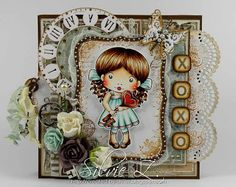 La-La Land Crafts - Heart Key Marci card by Silvie Z.