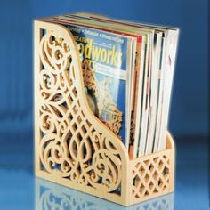 Want to store your Scroll Saw Woodworking and Crafts or Creative Woodworks magazines in style. It just makes sense to store a scroll saw mag. Intarsia Wood Patterns, Wood Craft Patterns, Wood Carving Patterns, Art Patterns, Cross Patterns, Design Patterns, Embroidery Patterns, Hand Embroidery, Laser Cutter Ideas