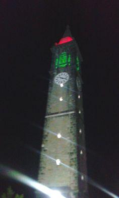 campanile illuminato con le luci Baglem® Light Led
