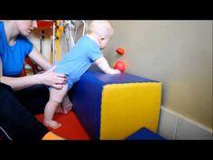 Staszek - Fistaszek: (zespół Downa) Nauka stawania i chodzenia oraz siadanie ze stania - YouTube