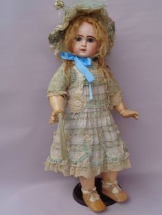 ANTIQUE-JUMEAU-BISQUE-TETE-DEPOSE-12-DOLL-c1880-CLOSED-MOUTH-26-TALL-EXCLUSIVE