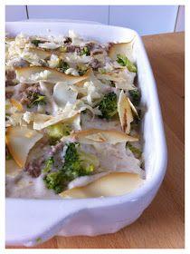 La fucina culinaria: Lasagne di pane carasau,broccoli,salsiccia e scamorza affumicata