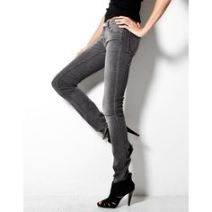 grey kex nightster skinny jean (€225) found on Polyvore featuring women's fashion, jeans, low rise jeans, acne studios jeans, gray jeans, skinny jeans and slim jeans