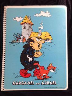 Hanna Barbera SMURFS Gargamel AZRAEL Vintage Spiral Bound MEAD Unused Notebook