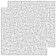 Hard Printable Maze Puzzles - Coloring For Kids 2019 Inside Out Coloring Pages, Shark Coloring Pages, Coloring Sheets For Kids, Printable Coloring Sheets, Coloring Books, Mazes For Kids Printable, Printable Crossword Puzzles, Free Printable, Hard Mazes