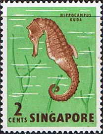 Singapore 1962 SG 64 Seahorse Fine Mint Scott 62 Other Singapore stamps HERE
