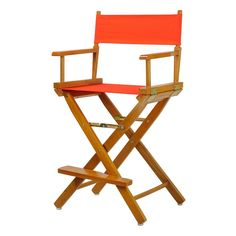 Casual Home 24-in. Honey Oak Finish Director's Chair, Orange