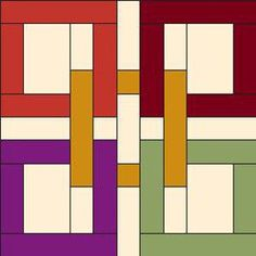 Celtic Squares, Interlocking Squares. Free Quilt Patterns, Baby Quilt Patterns, Applique Patterns, Quilt Block Patterns, and More at FaveQuilts.com