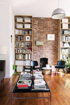 Exposed Brick Interiror Walls   Domino - option for great room?
