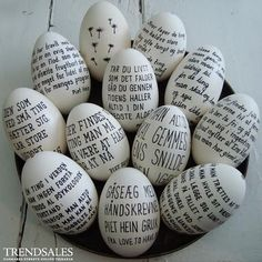 Eggs in black and white