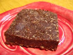 Chocolate date squares, easy food for the kiddos.