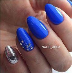 and Beautiful Nail Art Designs Green Nails, Blue Nails, Fancy Nails, Trendy Nails, Chrime Nails, Round Nails, Beautiful Nail Art, Creative Nails, Simple Nails