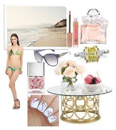 """""""Summer is steel in my hart"""" by jozikgasparyan ❤ liked on Polyvore featuring Bernhardt, Blumarine, Guerlain, Mark Broumand, Nails Inc., Charlotte Tilbury and Alexander McQueen"""