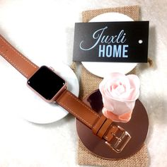 Brown Hand-Stitched Apple Watch Leather Band, Single Tour Apple Watch Band…