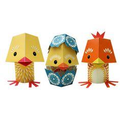 Yolk Folk Paper Animals 2 Pk, 10,50€, now featured on Fab.
