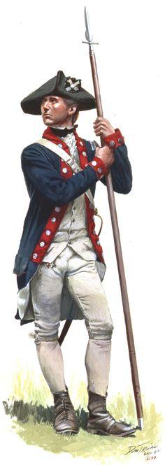Lieutenant, Continental Line Infantry